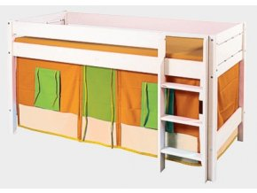 Gazel domeček pod vyvýšenou postel -  oranžovo-zelený
