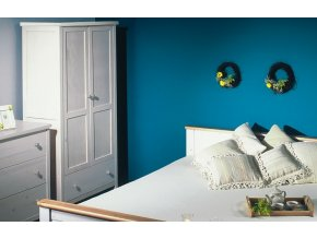 Gazel ANNY šatní skříň bílá - hloubka 45 cm