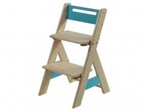 Gazel ZUZU dětská rostoucí židle - modrá